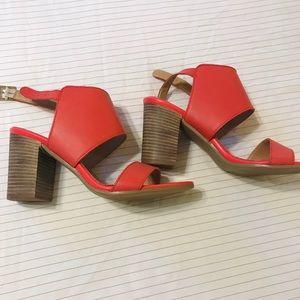 Coral shootie bootie sandals